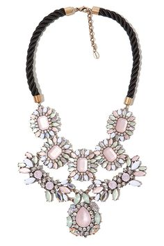 Zara necklace with Rhinestones. Great affordable way to try a big necklace!