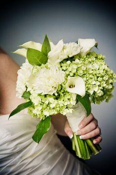 Romantic White & Green Wedding Bouquets Hydrangea Flowers