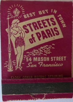 Streets of paris san francisco calif