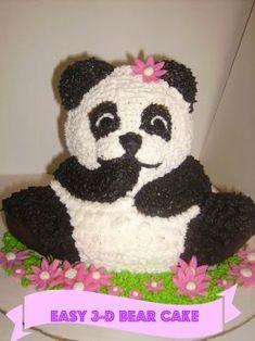 How to make a 3D bear cake...easy cake for beginners!!!! (teddy bear birthday cake) (teddy bear party)