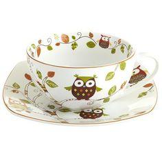 Owl Mug and Plate Set