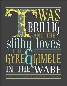 lewi carrol, alice in wonderland, high school english, book, typography art