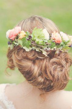 Bridal hair crown