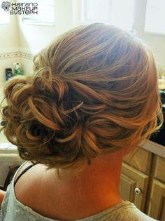 hair down, dance hair, bridesmaid hair, prom hair, homecoming hair