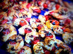Grilled Jumbo Louisiana Shrimp with Tomatoes