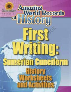 FIRST WRITING: SUMERIAN CUNEIFORM�History Worksheets and Activities from Sunflower Education on TeachersNotebook.com -  (11 pages)  - A complete lesson about the world's first writing�SUMERIAN CUNEIFORM! Includes History worksheets and activities.