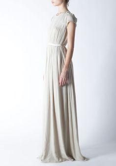 Crinkle Chiffon Gown