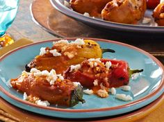 Cacique Sweet Chiles Stuffed with Chorizo Picadillo & Queso Fresco with Fire-Roasted Red Bell Pepper Sauce