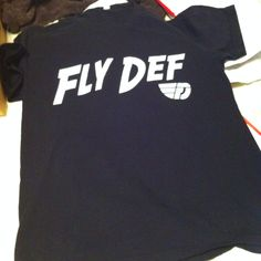 Black and white Fly Definition tee! Available to the public soon..