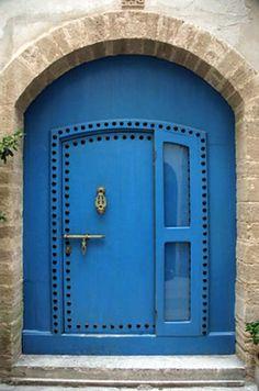 knock, doorway, window, blue doors, color