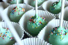 Mint Green Cake Pops