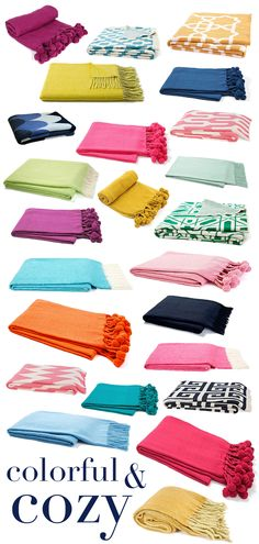The Pink Pagoda: COLORFUL AND COZY | Throws Under $100