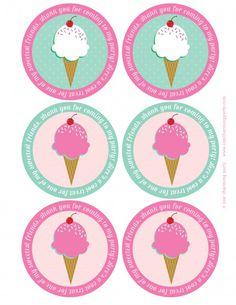 ice cream party printables