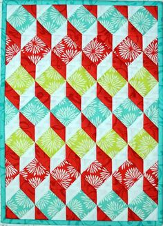 """Mini shadowplay quilt pattern, 11 x 15"""", by Plum Tree Quilts"""
