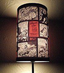 comic book lampshade