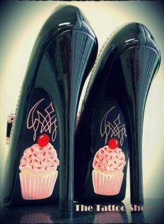 #Cupcake High Heels,  Shoes, cupcake high heels strawberry cherry shoes, Chic  #Pumps #2dayslook #Pumpsfashion  www.2dayslook.com