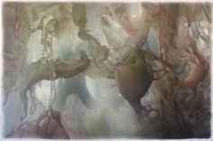 """Saatchi Online Artist: Art Venti; Colored Pencils, 2013, Drawing """"Spatial Colony (of the Inner Landscape)"""""""