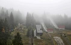 Abandoned winter Olympics site in Sarajevo