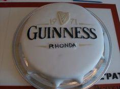 Same concept but witht the Schlegel logo guin cake, cap cake, cake idea, cakes, food food, groom cake, guinnesscakedonejpg 320239, grooms, guiness cake