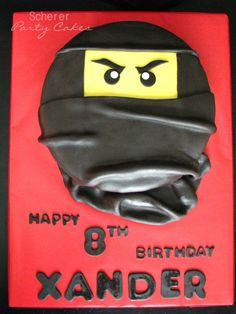 Ninjago birthday cake for one of twin boys.