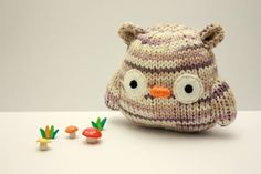 Knitted little owl animals, crochet, amigurimi owl, knit owl, recycled sweaters, owls, mushrooms, crafti diy, amigurumi