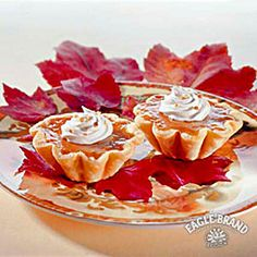 Save some room and enjoy the flavors of pumpkin, cinnamon, and nutmeg in these bite-sized tarts. #SweetenTheSeason