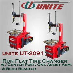 Run Flat Tire Changer w/Center Post, One Assist Arm, & Bead Blaster