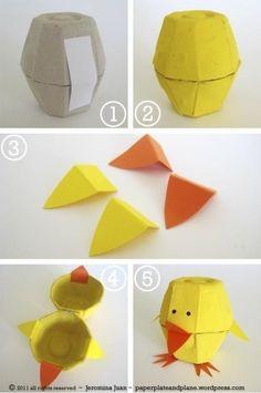 DIY яйца куриные коробки