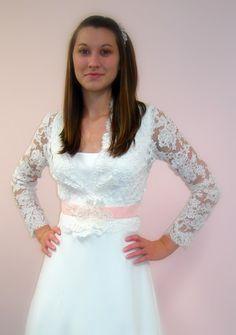 Alencon lace dresses on pinterest lace wedding dresses for Jersey knit wedding dress