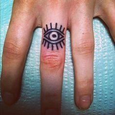 Evil Eye Hand, Tattoo Ideas, Third Eye, Eye Tattoo, Fingers, Old School, Finger Tattoos, Eyes, Ink