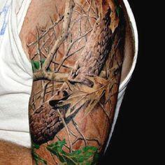 Camo tattoo. Awesome.