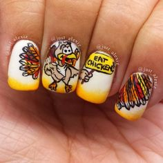 thanksgiv nail, nail nailart, nail art, thanksgiving nails