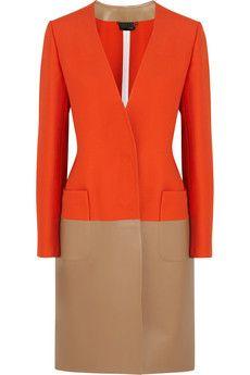 Fendi Wool-blend and leather coat | NET-A-PORTER
