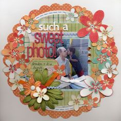 Awesome Layout using flowers - Scrapbook.com