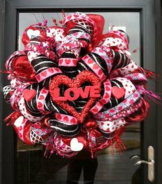 This Valentine wreath was created by Becky Hans