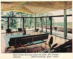 Bethlehem Steel Home Interior- too much  glass but cool ceiling
