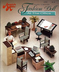 Fashion Doll at The Office Plastic Canvas for by grammysyarngarden, $24.00