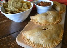 Pinto Bean, Green Olive & Sweet Potato Turnovers from An Unrefined Vegan.