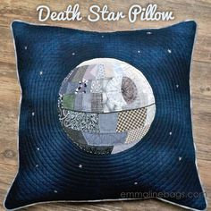 Hand Pieced Patchwork Death Star Pillow - Emmaline Bags: Sewing Patterns and Purse Supplies