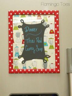 Chalkboard Vinyl Menu Board from @Bev {Flamingo Toes}