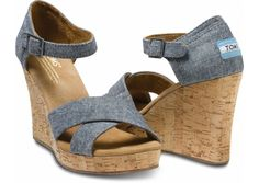 Toms strappy wedges