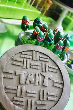Teenage Mutant Ninja Turtles Party with Lots of Really Cool Ideas via Kara's Party Ideas KarasPartyIdeas.com #TMNTParty #PartyIdeas #Supplies (9)