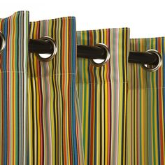Polyester Outdoor Curtain with Nickel Grommets - Big Surprise by Designed For Outdoors. Bright, fun colors for summer! #outdoors #outdoorliving #outdoorcurtains #curtains #color