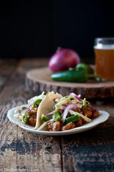 Beer slow cooker chicken tacos