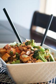 Spicy Peanut Tofu Pad Thai | by Sonia! The Healthy Foodie