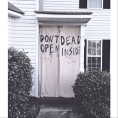 The Walking Dead party decorations. Would also make great Halloween decor