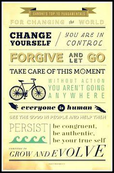 gandhi top, 10 fundament, simpl truth, inspir pictur, top 10, picture quotes, inspir quot, pictur quot, live