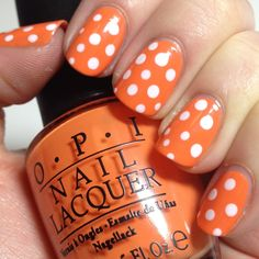Fun citrus color with dots - perfect for summer