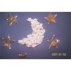 Letter M week- Moon. We'll make this with mini marshmallows instead of styrofoam.