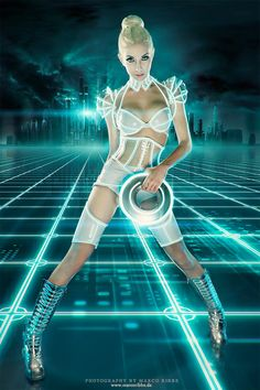 outfits, drawings, model, costumes, domino, cosplay girl, art, tron cosplay, blues